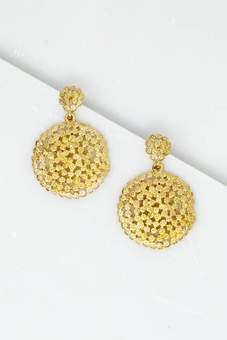 Charming Circle Earrings - Gold