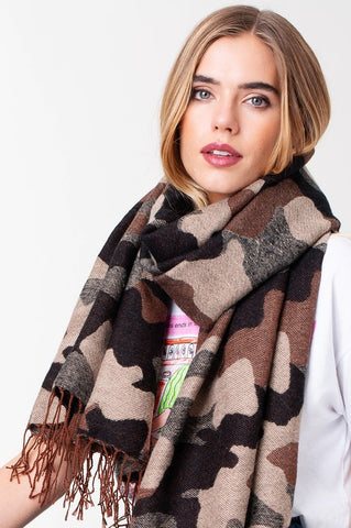 Chic in Camo Scarf