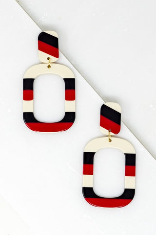 Retro Lines Earrings