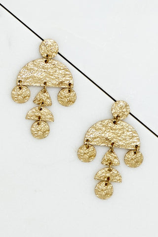 Geo Bangles Earrings - Gold