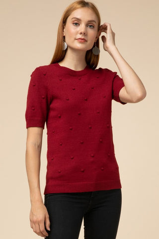 Sweetest Sweater Top - Burgundy