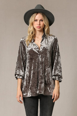 Vintagesque Velvet Top