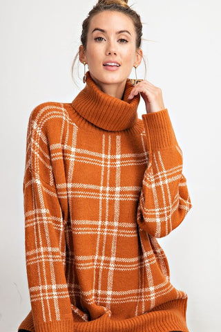 Cinnamon Plaid Sweater