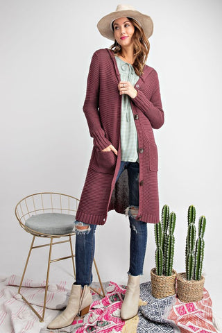 Plum Cute Cardigan
