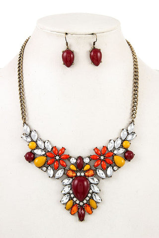 Fabulous Floral Necklace Set