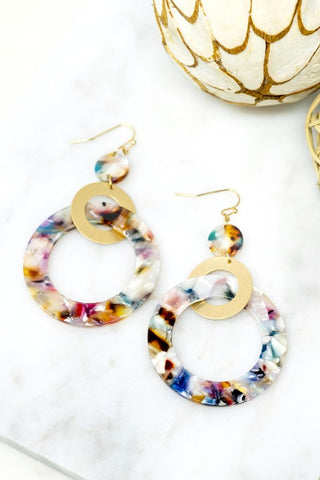 Circle Dot Earrings