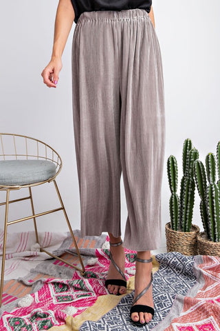 Supremely Satin Pants - Grey