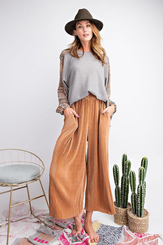 Supremely Satin Pants - Bronze