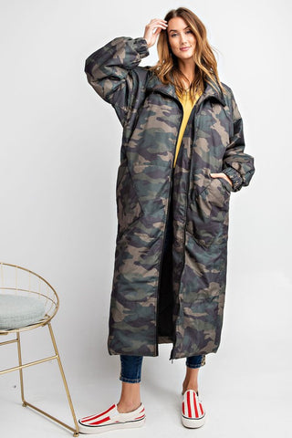 All Puffed Up Coat - Chic Camo