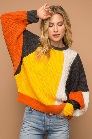 Oversize Colorblock Pullover
