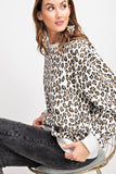 Leopard Love Top - White