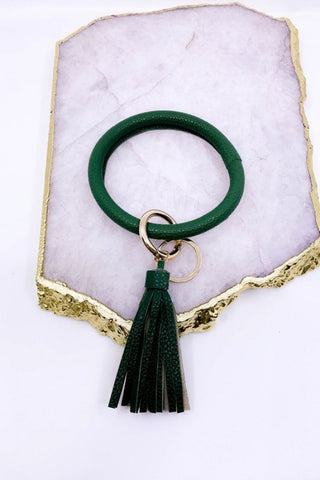 Brilliant Bangle Keychain - Deep Green