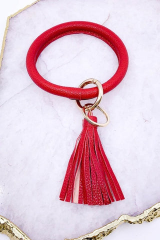 Brilliant Bangle Keychain - Crimson