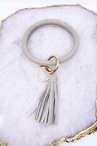 Brilliant Bangle Keychain - Grey