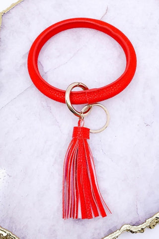 Brilliant Bangle Keychain - Red