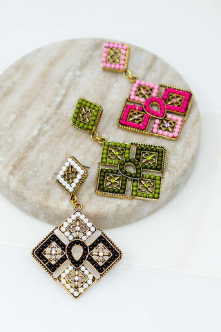 Seed Bead Style Earrings