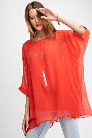 Chic in Coral Top
