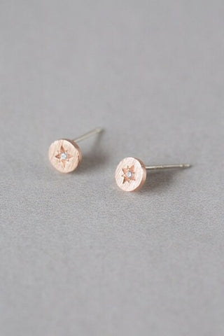 Guiding Star Earrings - Rose Gold