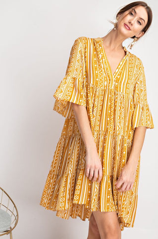 Paradise in Prints Dress- Sunshine
