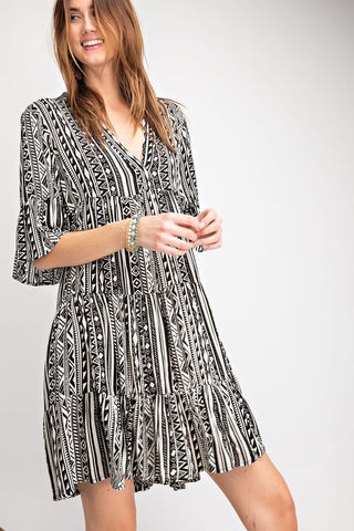 Paradise in Prints Dress