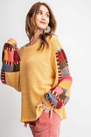 Prettiest Patchwork Sweater