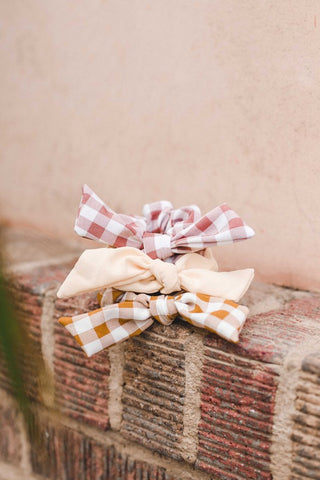 Checked Bow Scrunchie - More Colors Available
