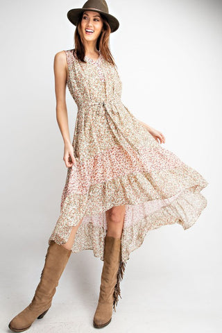Fun in Floral Ruffle Dress