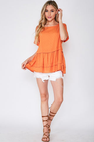 Plunge Into Orange Top