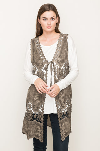 Lace Applique Vest