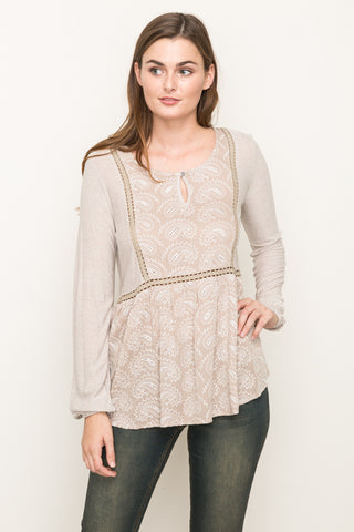 Jaquard Mix Blouse