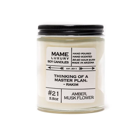 Quote Me Candle-Amber Musk Flower