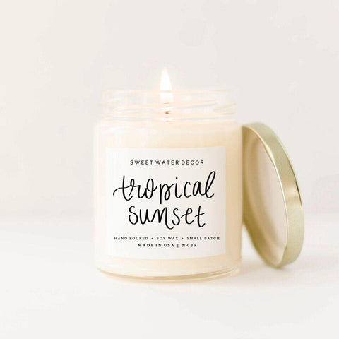 Handlettered With Love- Tropical Sunset