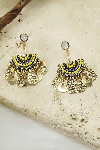 Teardrop Earrings - Yellow