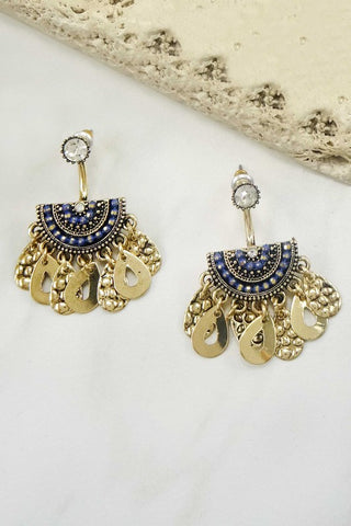 Teardrop Earrings - Blue