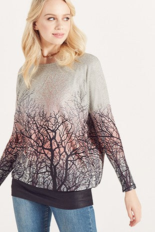 Ombre Forest Sweater