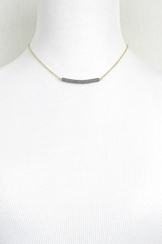 Floating Sequin Necklace - Grey