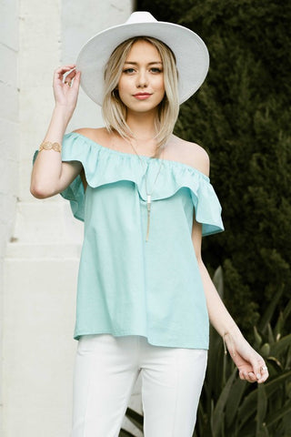 Bold Ruffle Off The Shoulder Top