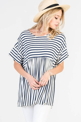 Striped Oversized Tee
