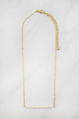 Floating Sequin Necklace - Ivory