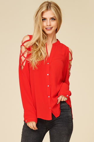 Criss Cross Sleeve Top