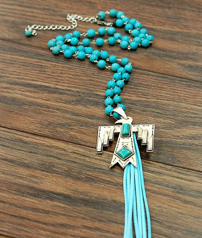 Thunderbird Tassel Necklace