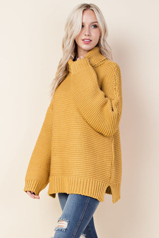 Chunky Turtle Neck- Soft Mustard
