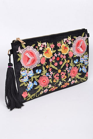 High Fashion Embroidered Clutch