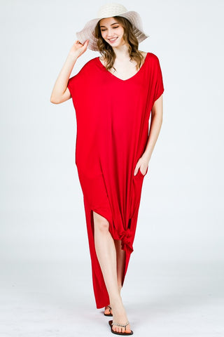 Cool & Contemporary Dress- Red