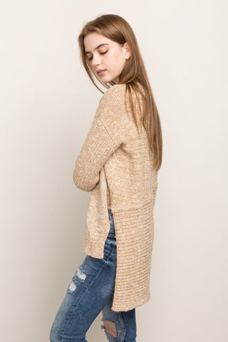 Uneven Hem Pullover Sweater