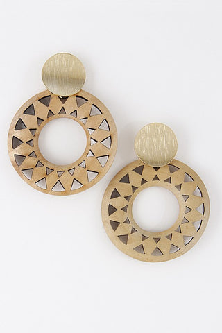 Cool & Casual Earrings-Ivory