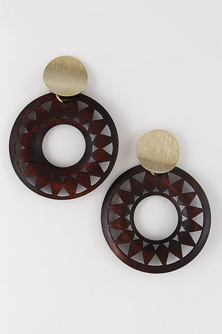 Cool & Casual Earrings-Brown