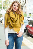 Stitch Switch Scarf-Mustard
