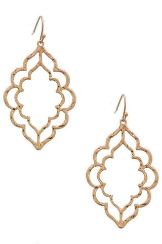 Sweet Stencil Earrings in Rose Gold