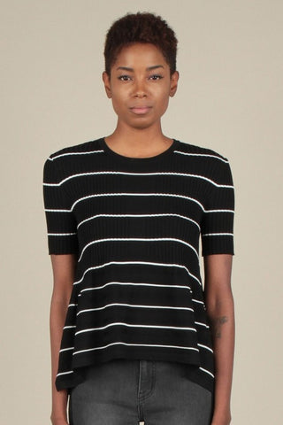 Straightforward Striped Top